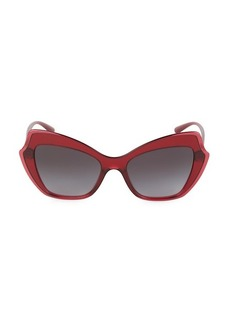 Dolce & Gabbana 52MM Squared Cat Eye Sunglasses
