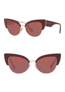 Dolce & Gabbana 53mm Cat Eye Sunglasses