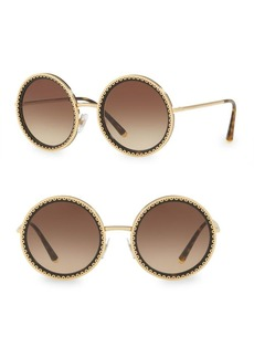 Dolce & Gabbana 53MM Round Scallop Sunglasses