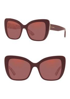 Dolce & Gabbana 54mm Butterfly Sunglasses
