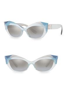 Dolce & Gabbana 54MM Cat Eye Faceted Sunglasses