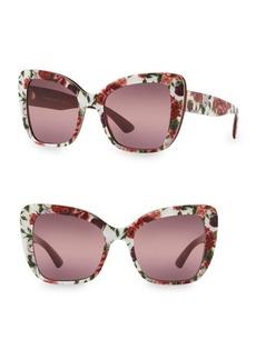 Dolce & Gabbana 54MM Cat Eye Floral Sunglasses