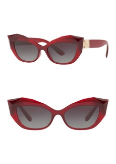 Dolce & Gabbana 54mm Cat Eye Sunglasses