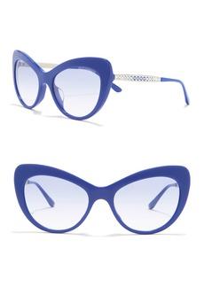 Dolce & Gabbana 54mm Gradient Crystal Cat Eye Sunglasses