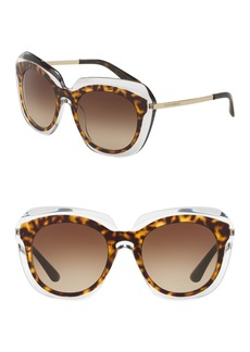 Dolce & Gabbana 54mm Oval Gradient Sunglasses