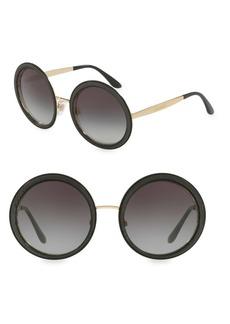 Dolce & Gabbana 54MM Round Sunglasses