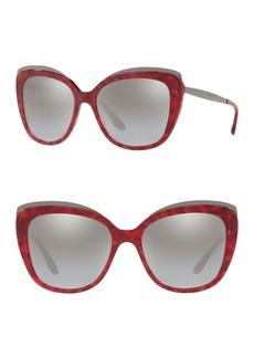 Dolce & Gabbana 57mm Butterfly Sunglasses