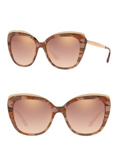 Dolce & Gabbana 57mm Butterfly Sunglasses