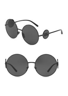 Dolce & Gabbana 59MM Round Sunglasses