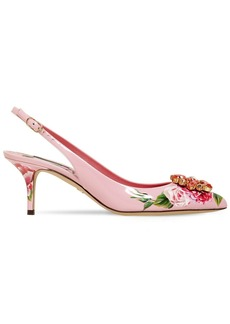 Dolce & Gabbana 60mm Bellucci Floral Patent Leather Pump