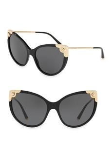 Dolce & Gabbana 60MM Cat Eye Sunglasses