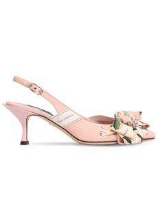 Dolce & Gabbana 60mm Lory Flower Cady Sling Back Sandals