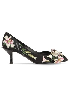 Dolce & Gabbana 60mm Lory Flower Print Cady Pumps