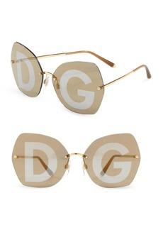 Dolce & Gabbana 64MM Logo Goldtone Sunglasses