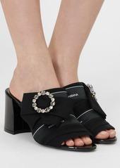 Dolce & Gabbana 75mm Keira Embellished Cady Sandals