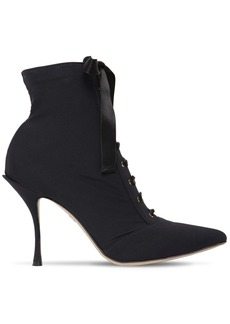 Dolce & Gabbana 90mm Jersey Lace-up Ankle Boots