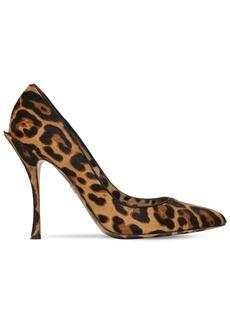 Dolce & Gabbana 90mm Lori Leopard Print Ponyskin Pumps