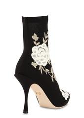 Dolce & Gabbana 90mm Macramé Knit Sock Boots