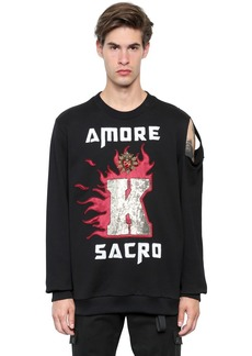 Dolce & Gabbana Amore Sacro Printed Cotton Sweatshirt