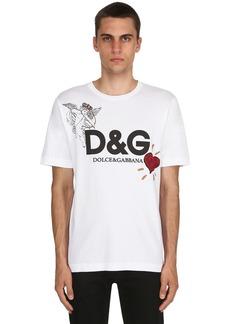 Dolce & Gabbana Angel Printed Cotton Jersey T-shirt