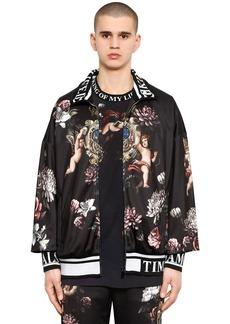 Dolce & Gabbana Angels Printed Jersey Track Jacket