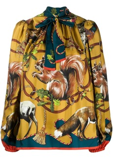 Dolce & Gabbana animals-print twill blouse