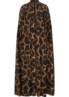 Dolce & Gabbana Animal-print Cady Cape