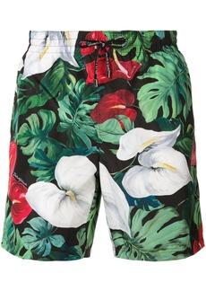 Dolce & Gabbana anthurium print swim shorts