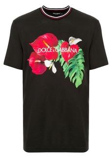 Dolce & Gabbana anthurium print T-shirt