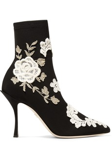 Dolce & Gabbana Appliquéd Stretch-knit Sock Boots