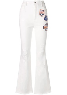 Dolce & Gabbana applique patch flared jeans