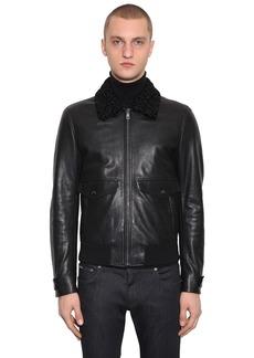 Dolce & Gabbana Astracan Leather Blouson Jacket