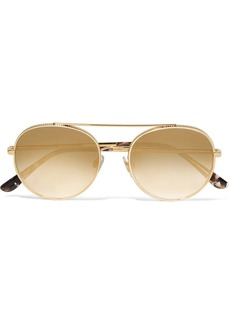 Dolce & Gabbana Aviator-style gold-tone sunglasses