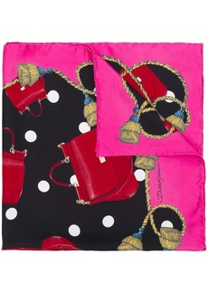 Dolce & Gabbana bag-motif printed silk scarf