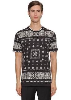 Dolce & Gabbana Bandana Print Cotton T-shirt