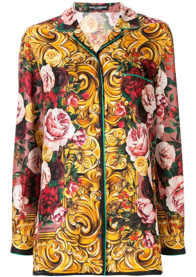 Dolce & Gabbana baroque and floral print shirt
