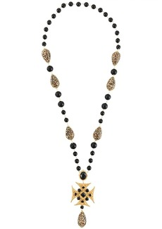 Dolce & Gabbana beaded long cross necklace