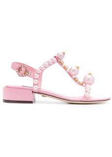 Dolce & Gabbana bejewelled satin sandals