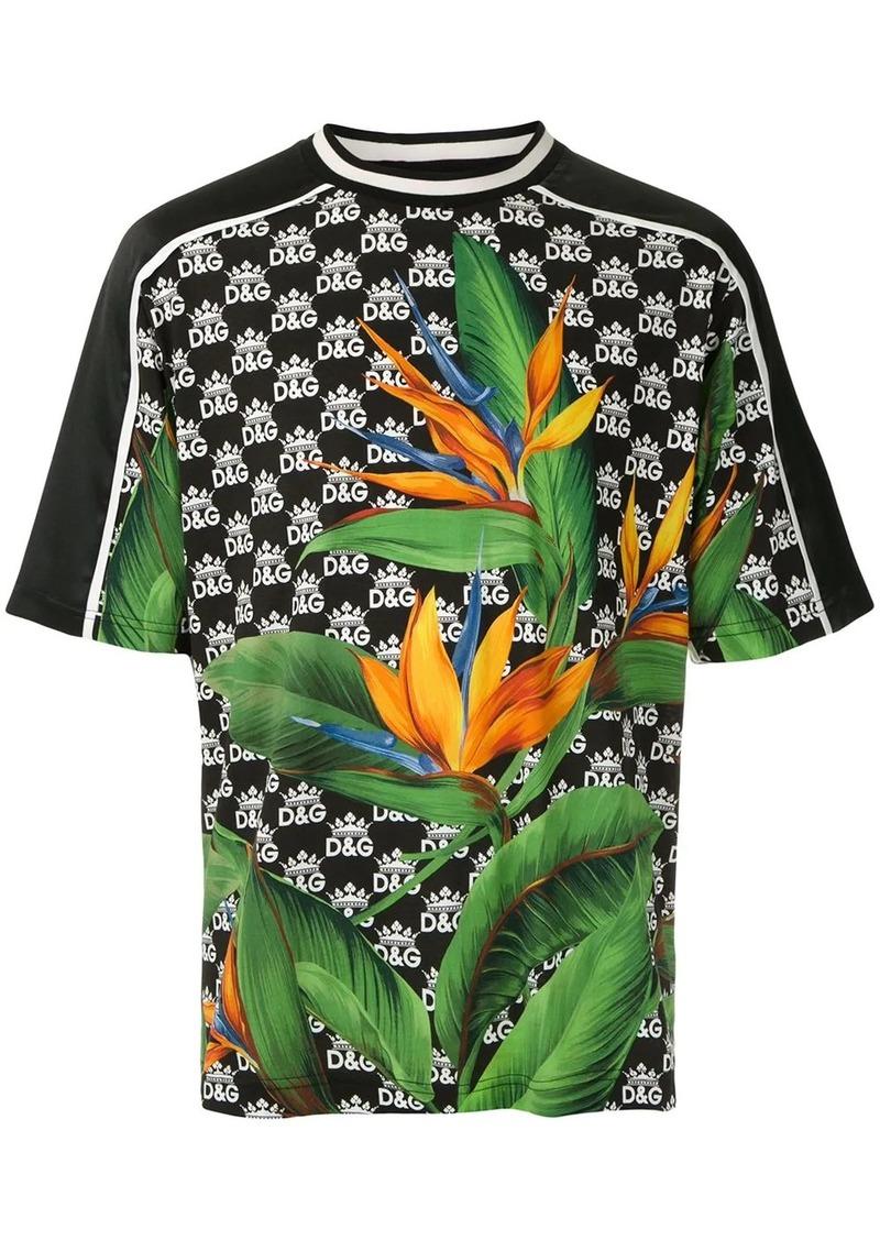 Dolce & Gabbana Bird of Paradise and logo T-shirt