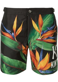 Dolce & Gabbana bird of prey print swim shorts