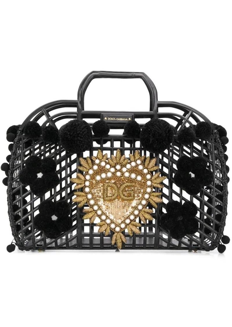 Dolce & Gabbana Gomma + Ricamo PVC bag