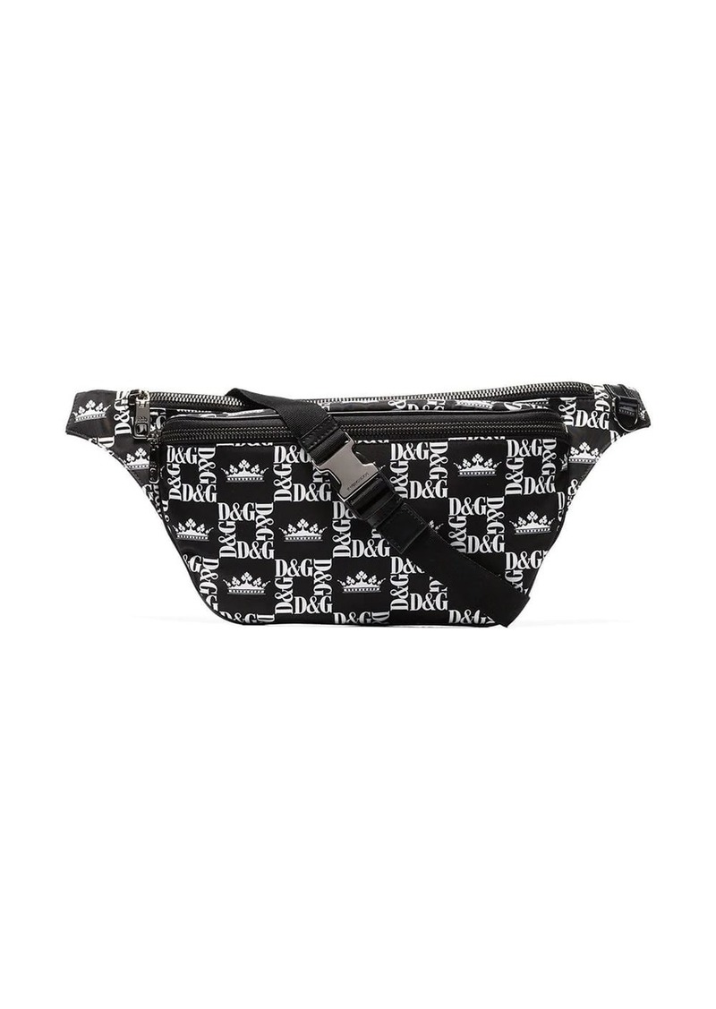 Dolce & Gabbana logo crown print crossbody bag