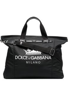 Dolce & Gabbana black and white logo holdall