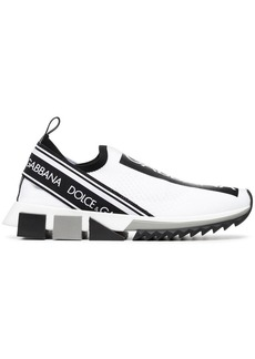 Dolce & Gabbana black and white logo print neoprene sneakers