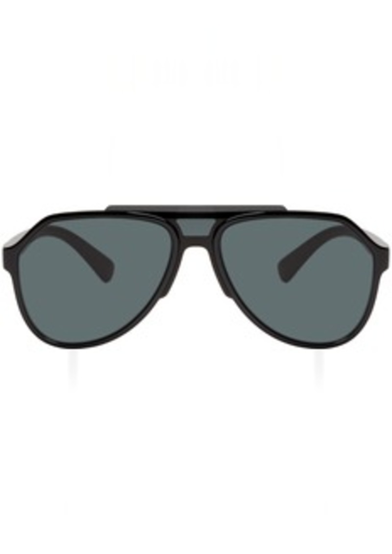 Dolce & Gabbana Black Aviator Sunglasses