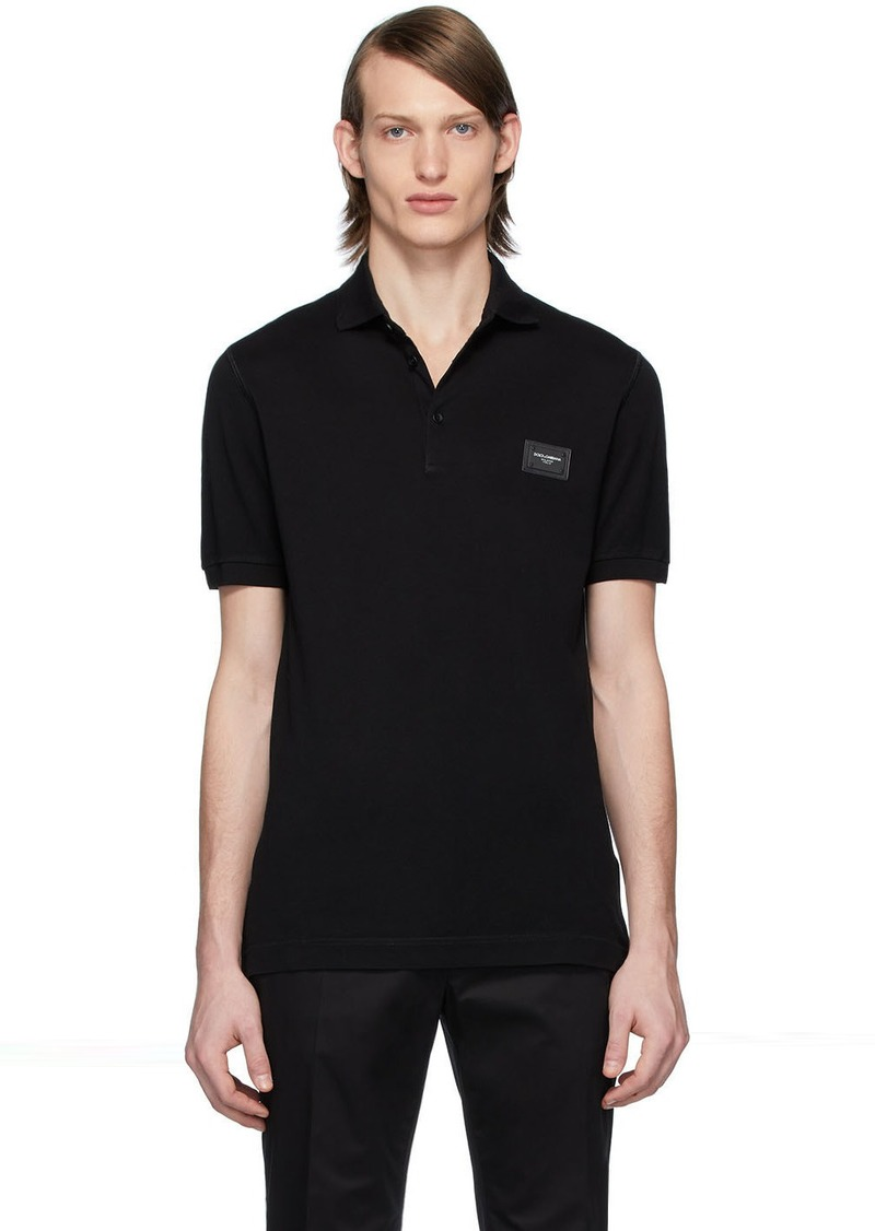 Dolce & Gabbana Black Branded Plate Polo