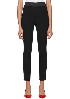 Dolce & Gabbana Black Cady Leggings