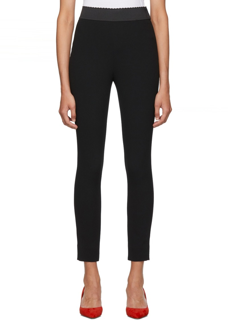 Dolce & Gabbana Black Cady Leggings