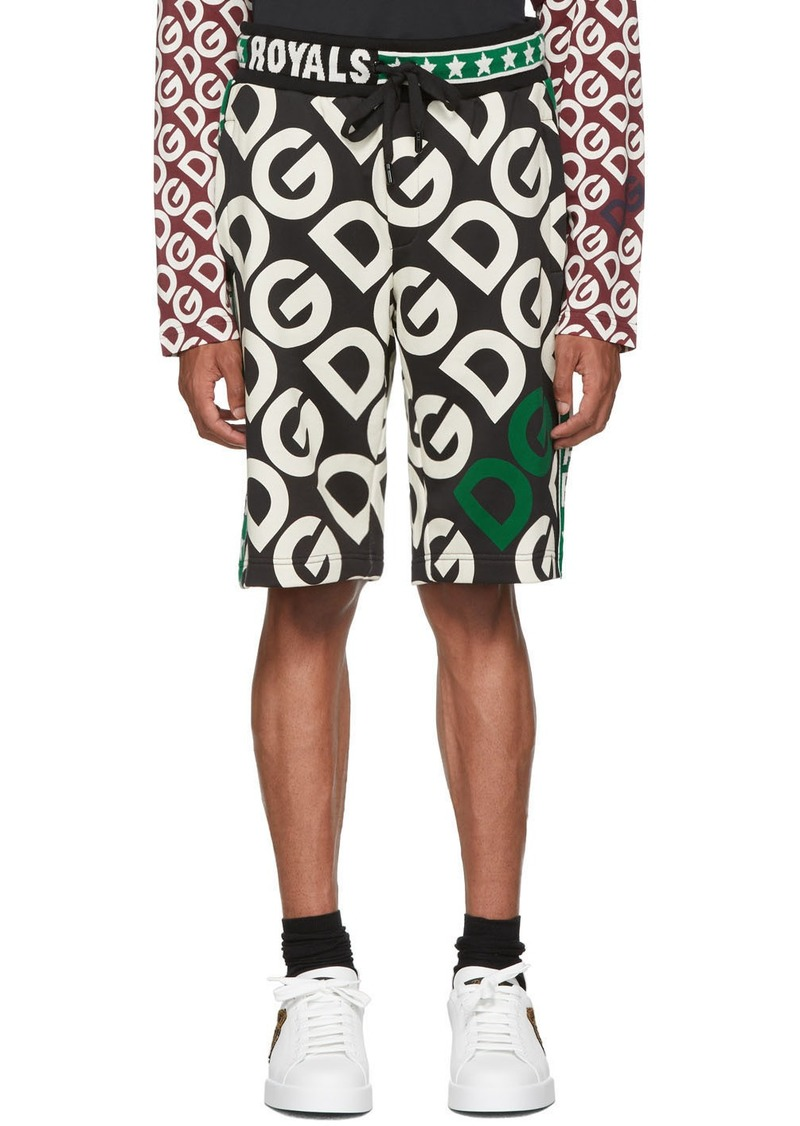Dolce & Gabbana Black 'DG Royals' Shorts