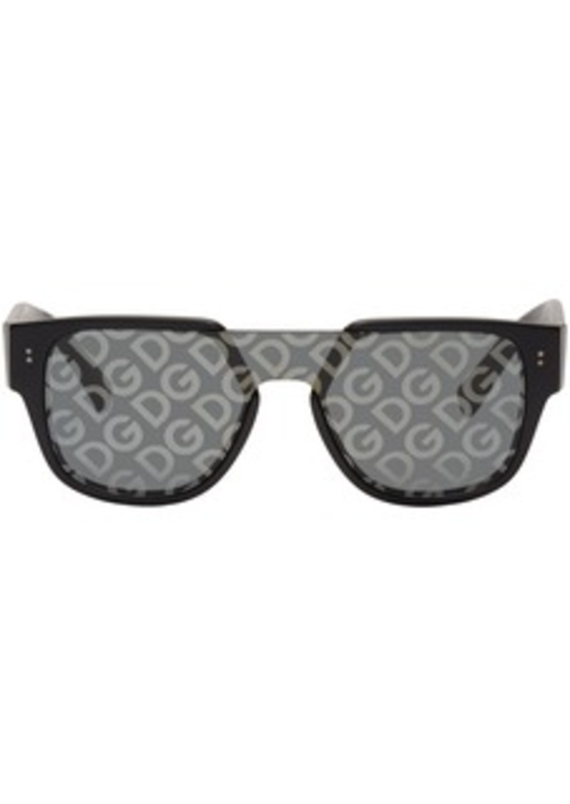 Dolce & Gabbana Black Domenico Mask Sunglasses